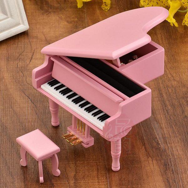 hộp nhạc piano gỗ hồng