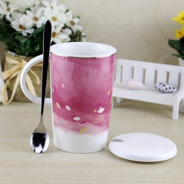 cốc sứ hình hoa