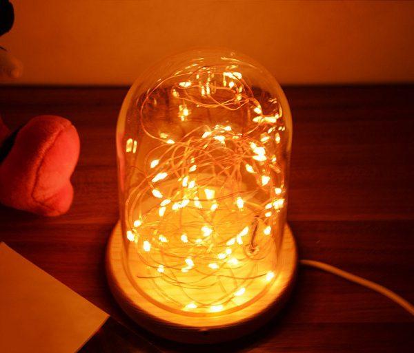 đèn ngủ lồng kính