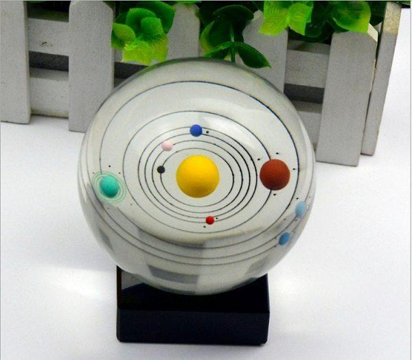 quả cầu pha lê hệ mặt trời