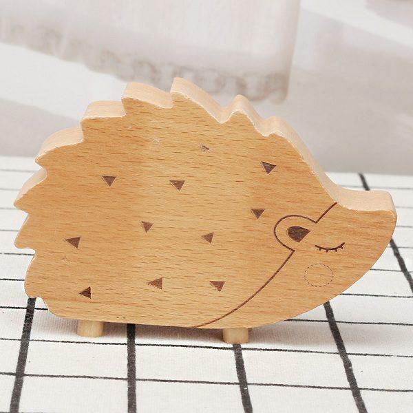 hộp nhạc gỗ hình nhím