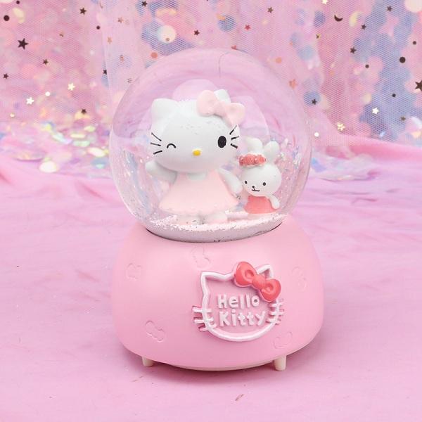 quả cầu tuyết hello kitty màu hồng