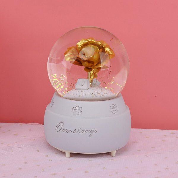 quả cầu tuyết hoa hồng vàng
