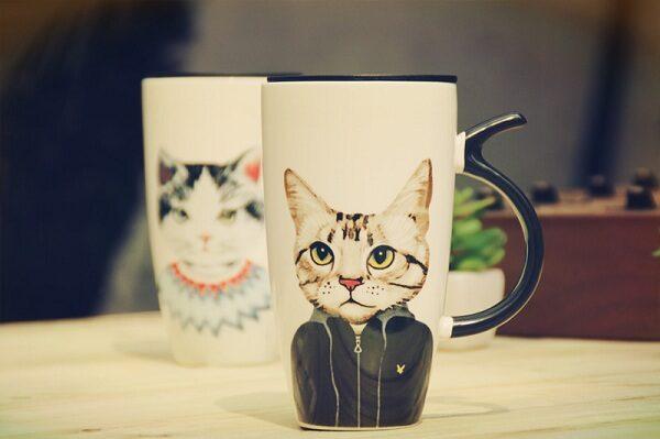 Cốc sứ hình mèo